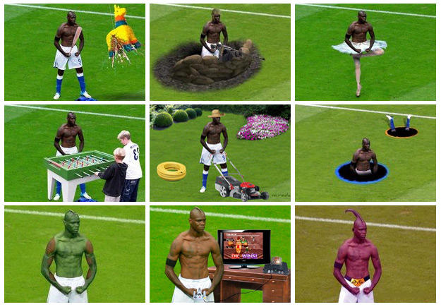 Mario Balotelli Photoshop Compilation