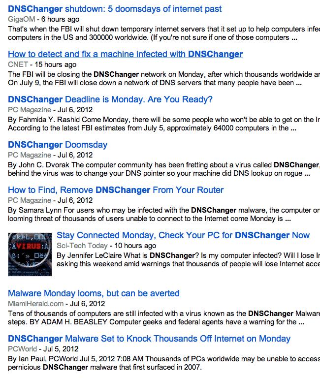 DNS News Headlines
