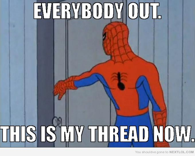 Spiderman thread time