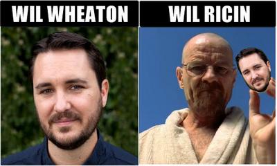 Name Pun - Wil Wheaton Wil Ricin