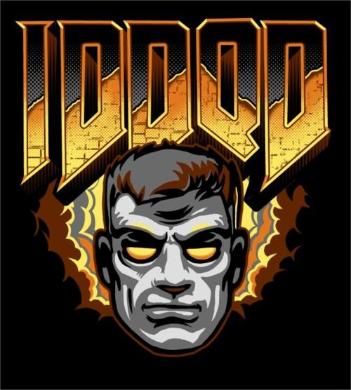 iddqd doom god mode fanart