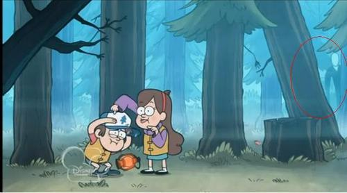 Slender Man appears in Gravity Falls.
