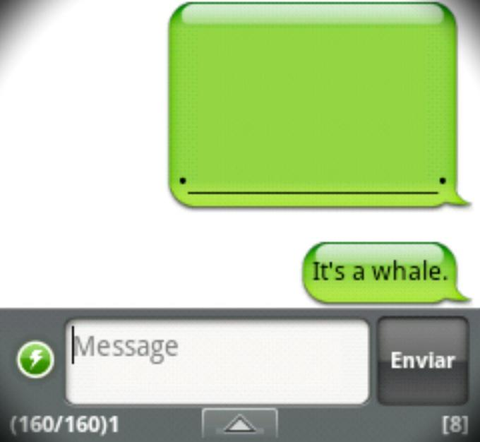 Handcent SMS for Android Whale