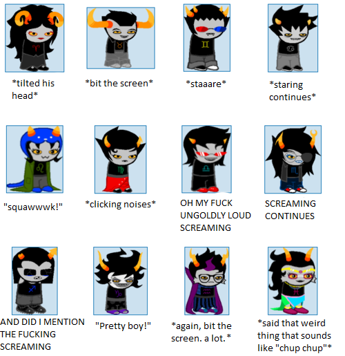 Homestuck Trolls According to my Parrot