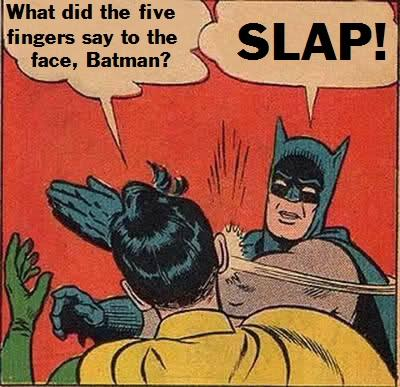 Five Fingers Slap Joke