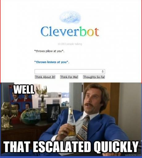 Cleverbot wants to kill you