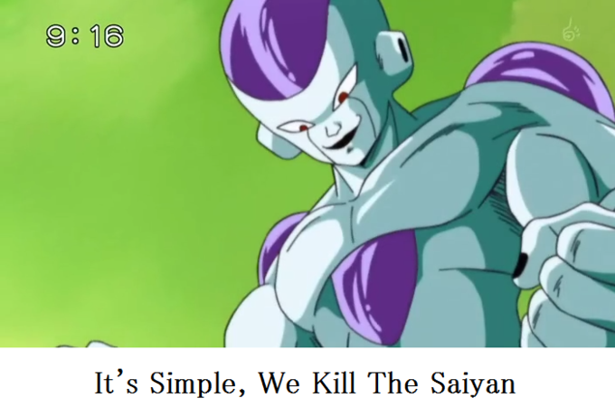 And then we kill saiyan.