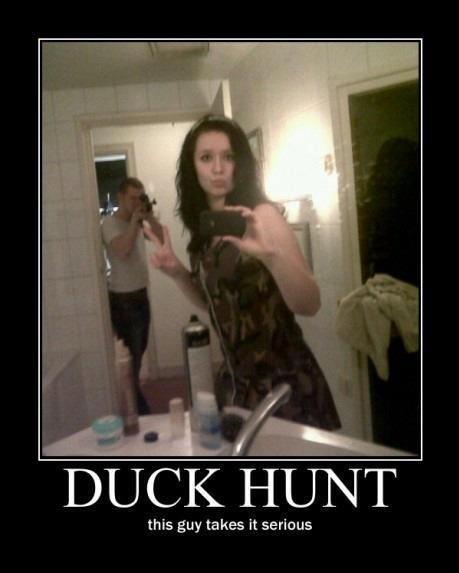 bathroom mirror duckface photobomb