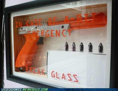 nes light gun emergency glass