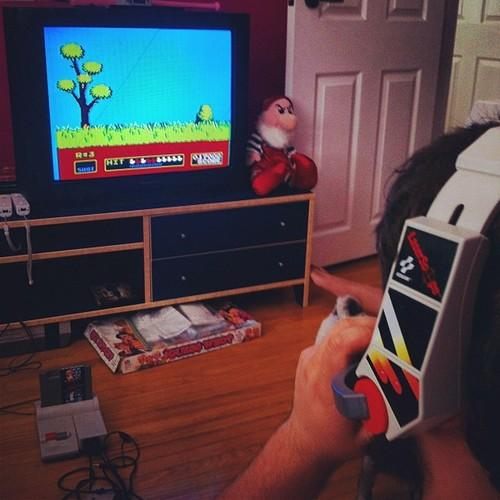duck hunt using headet