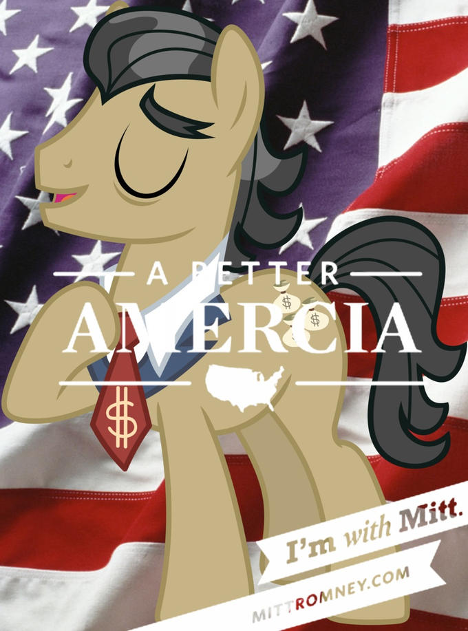 Mitt Romney as a Pony