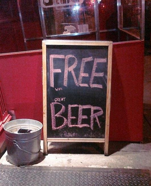 Sneaky Free Beer Sign