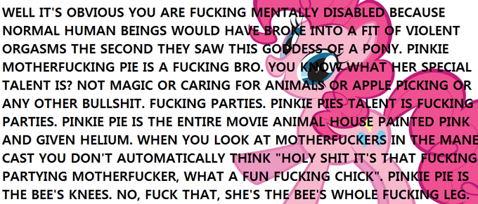 Express your love for Pinkie Pie in LESS than 100 words.