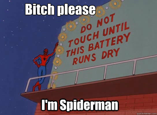 Spiderman being Spiderman