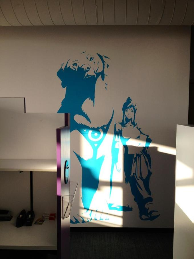 Mural in the Nicleodeon Animation Studio