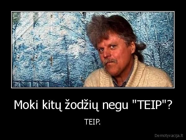 Do you know any other words than TEIP? — TEIP.
