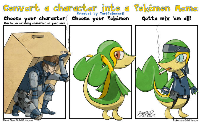 Character into Pokemon Meme - Solid Snivy by http://taricalmcacil.deviantart.com/