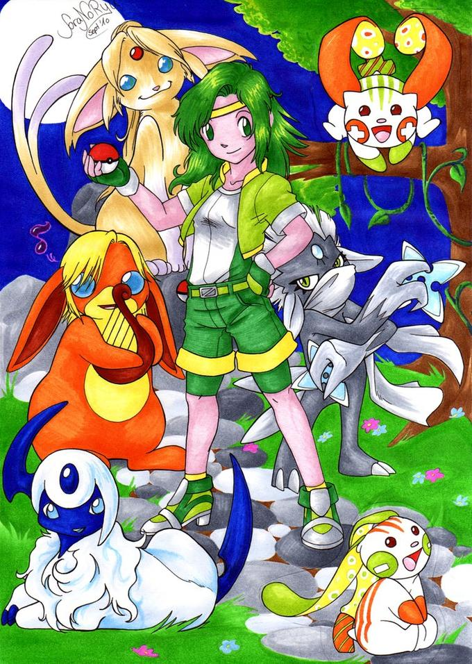 Pokemon meets Final Fantasy 4 by http://soranoryu.deviantart.com/