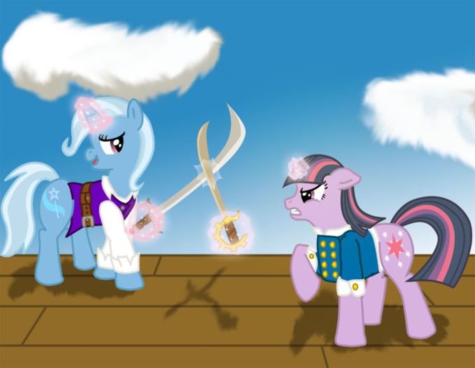 Twilight: Ha! Ha! En Garde Trixie!