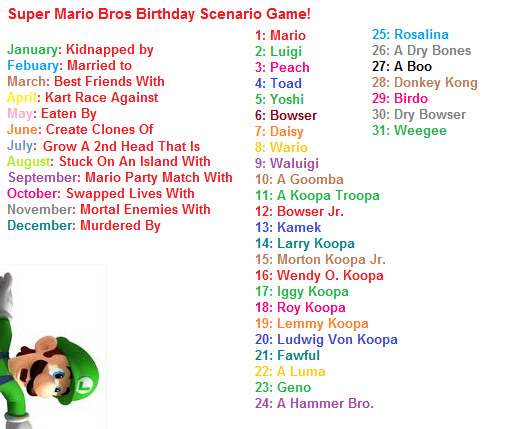 Super Mario Bros Bday