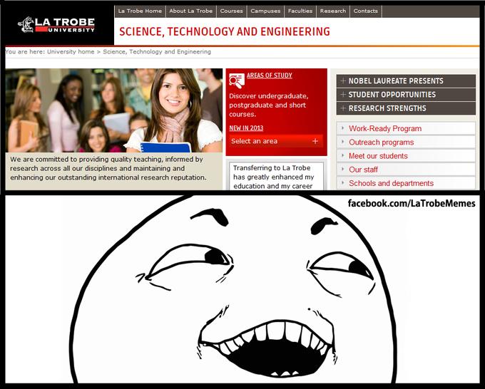 La Trobe website