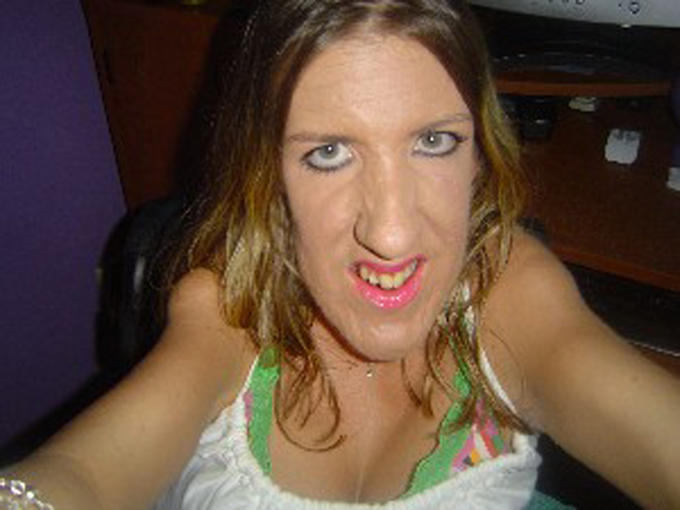 Ugly Horse Face Woman