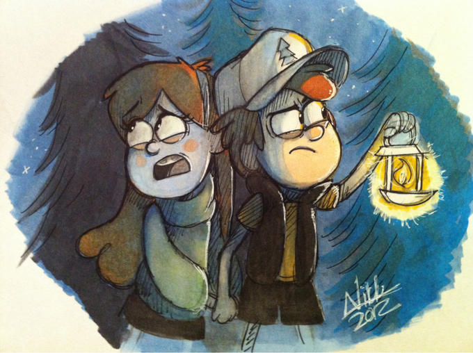 Dipper and Mabel by Cool Whippy
