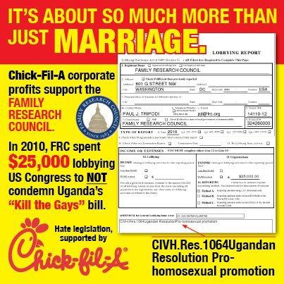 Chick-Fil-A Gay Marriage Controversy - FRC is a Hate Group, Nothing Less