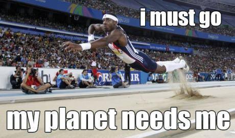 Athlete must go