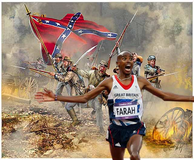 Mo Farah Running From The Confederacy