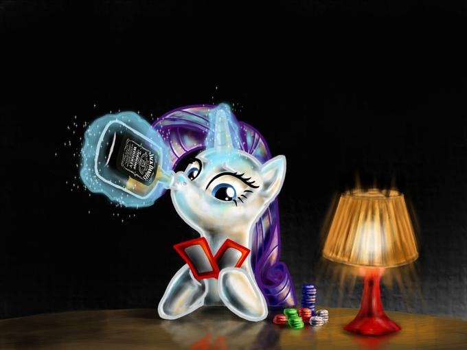 poker with miss rarity