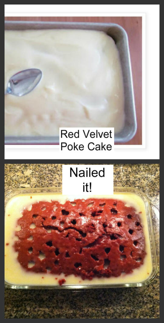 Red Velvet Poke Cake on Pinterest