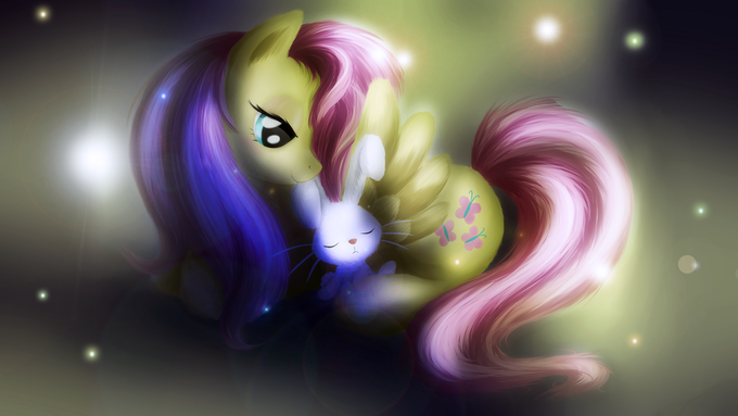 Fluttershy: Sleep tight, Angel bunny
