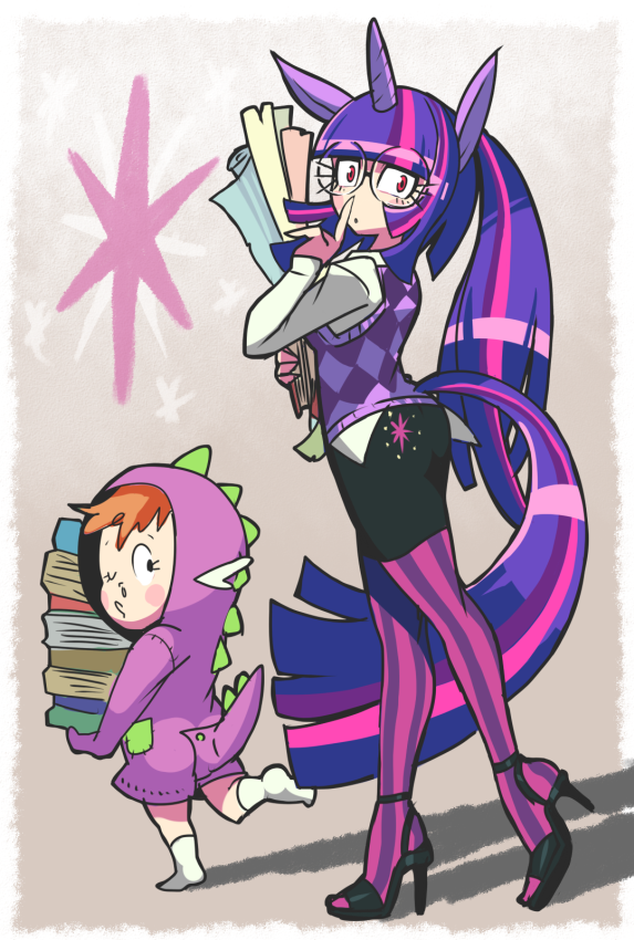 Humanized Twilight Sparkle and Spike