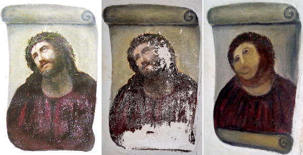 Ecce Homo Painting's Step-by-Step to Destruction