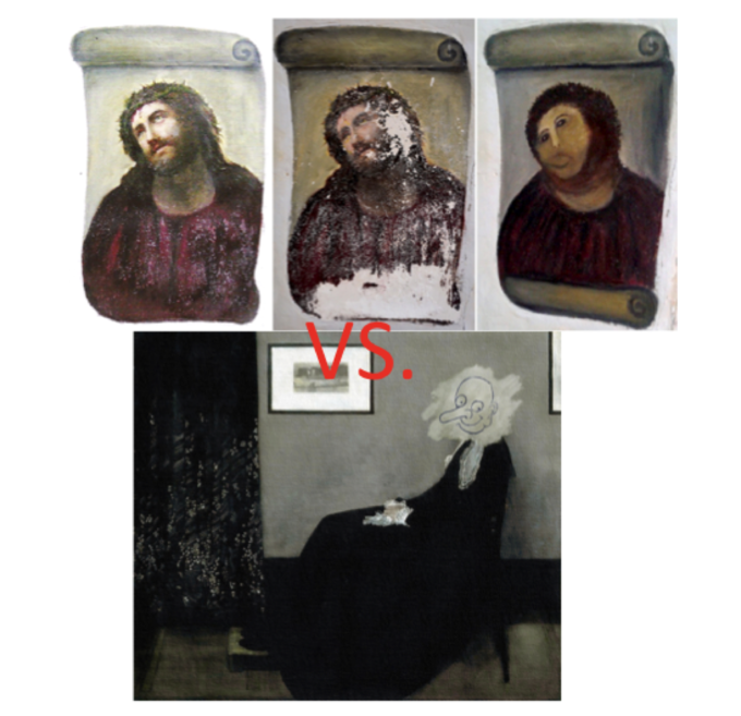 Who's the Better Art Restorer?