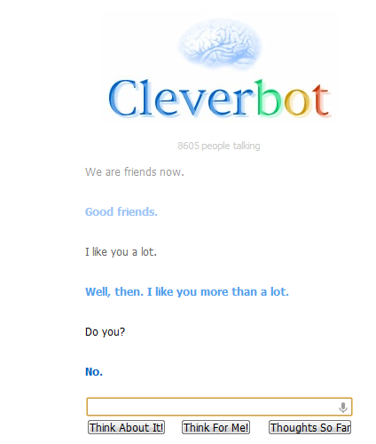 Cleverbot is mean