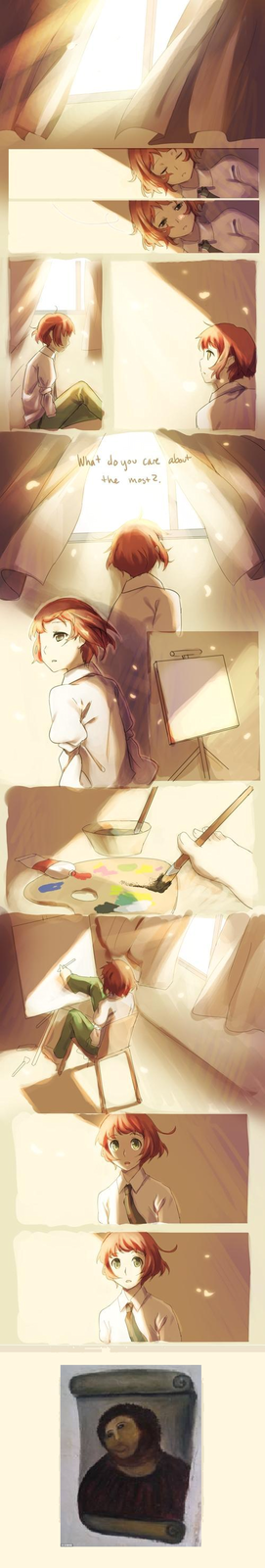 Rin's new painting....