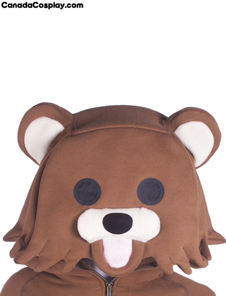 Pedobear Hoodie Face from canadacosplay.com