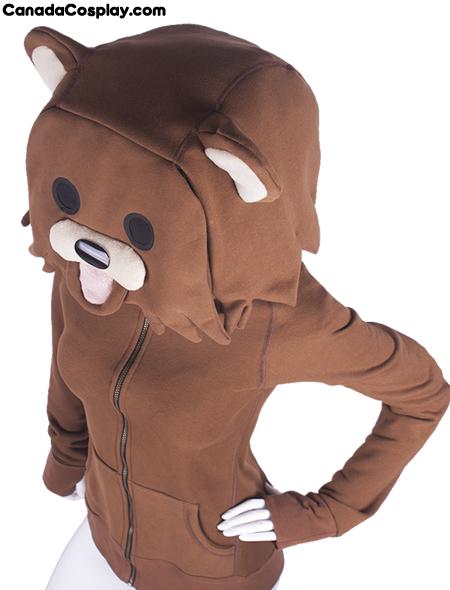 Pedobear Hoodie on female from canadacosplay.com