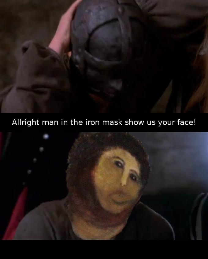Jesus in the iron mask