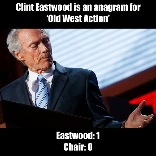 Eastwood: 1 Chair: 0