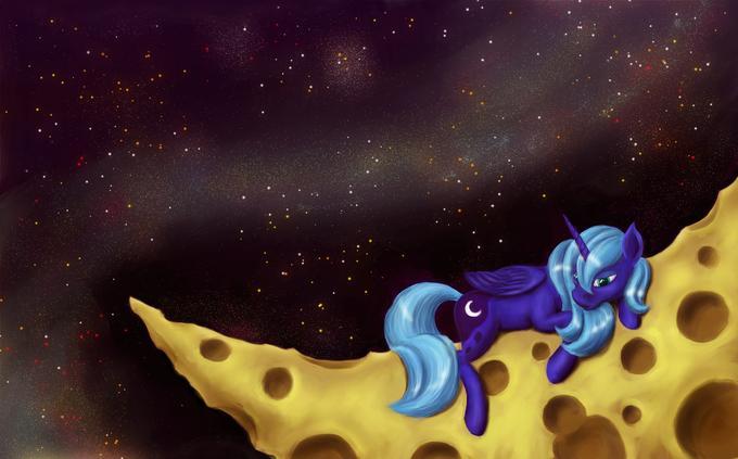 luna on the moon