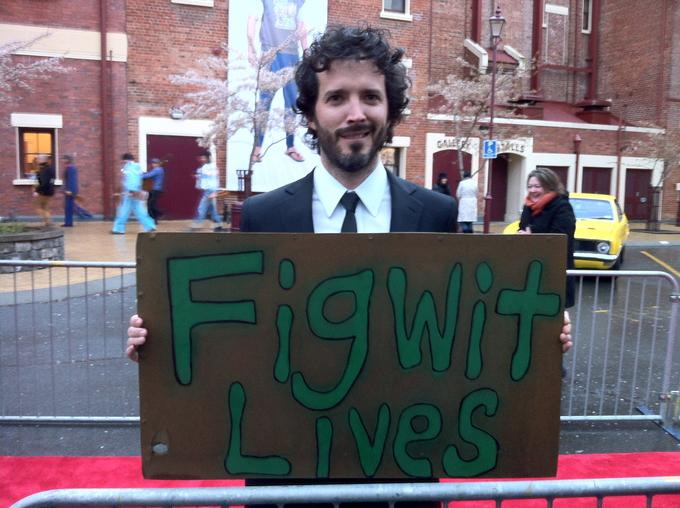 Figwit Lives, taken at Two Little Boys movie premier Invercargill, bottom of New Zealand by the Invercargill Vegan Society