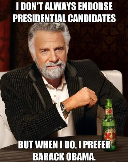 Dos Equis Guy Endorsed Obama