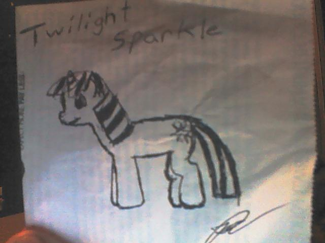 My first real pony drawing