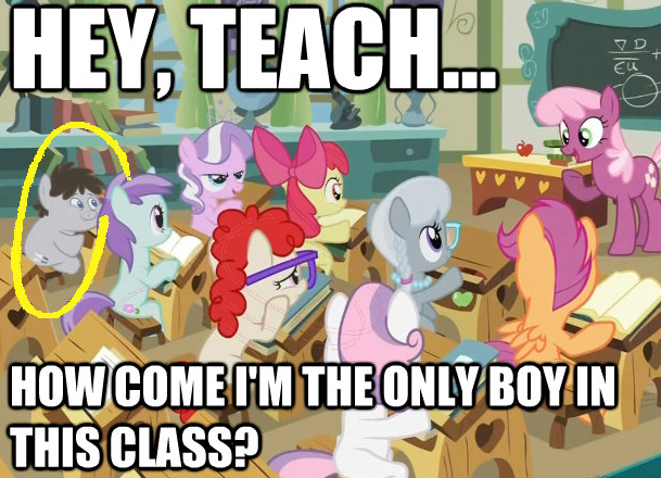 Hey Teach...How come I'm the only boy in this class?