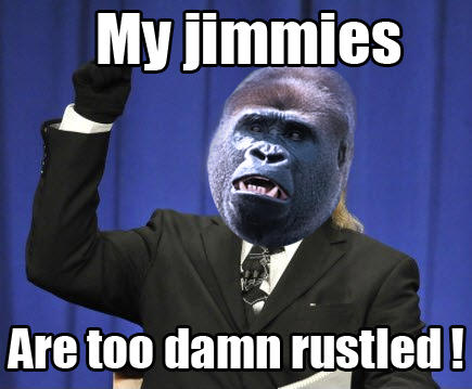 My jimmies are too damn rustled
