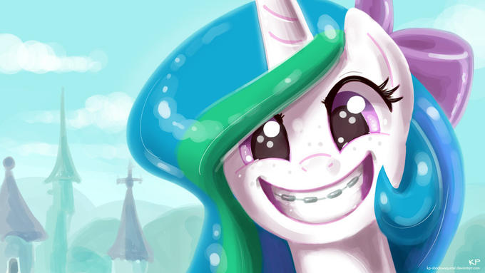 Celestia is nerdiest pony, prove me wrong