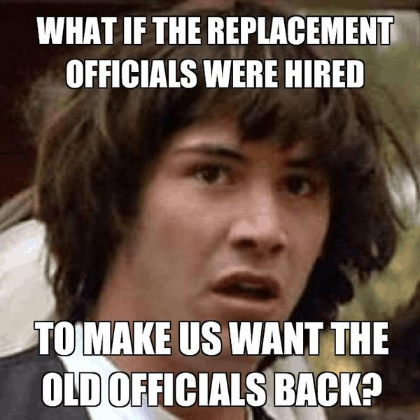 Replacement Officials Conspiracy